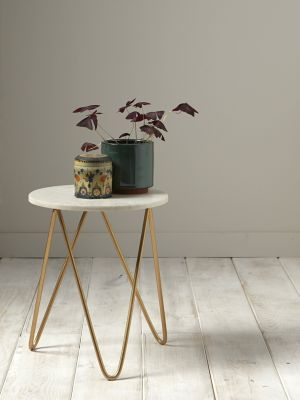 Table d'appoint en marbre et métal doré