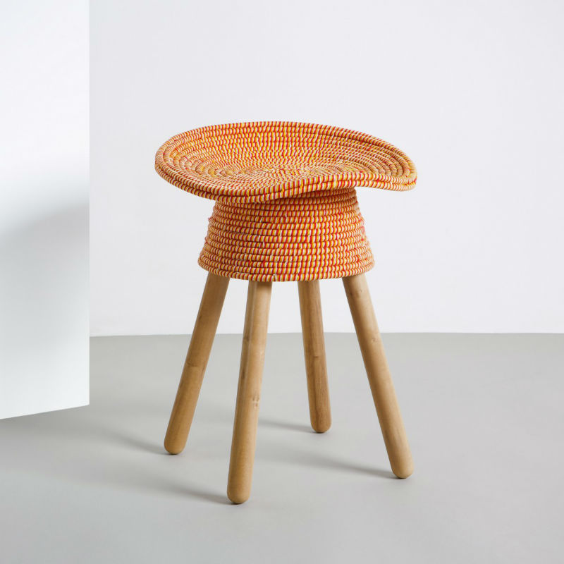 tabouret-coiled-rouge-orange