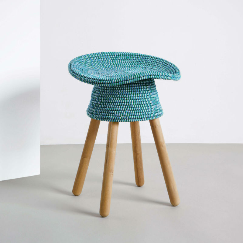 tabouret-coiled-rouge-turquoise