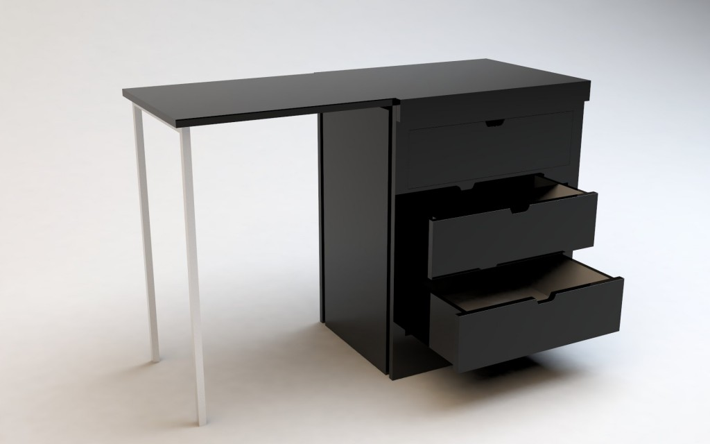 la commode bureau transformable kobe guten morgwen. Black Bedroom Furniture Sets. Home Design Ideas