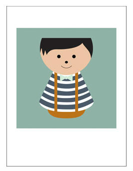 Affiche-danoise-BORDFOLK-boy-stripes