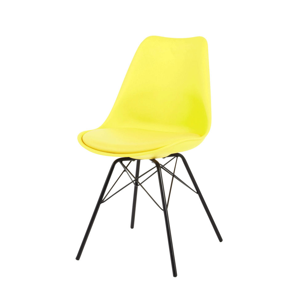 Coventry austerlitz des chaises inspirations eames for Chaise de bureau jaune