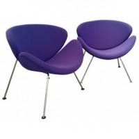 paire-de-fauteuils-orange-slice-pierre-paulin-années-80