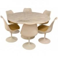table-à-repas-et-6-chaises-tulipe-eero-saarinen-années-50