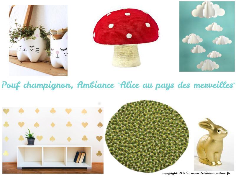 pouf champignon
