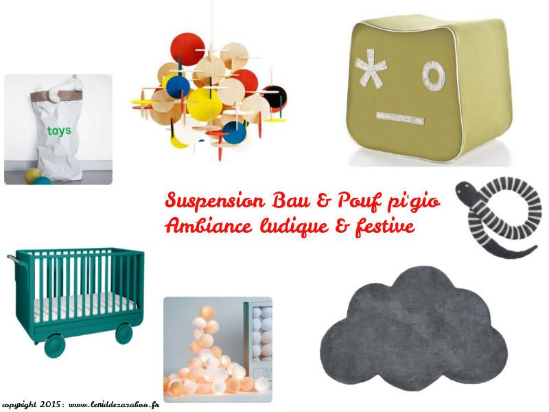 pouf et suspension-Bau