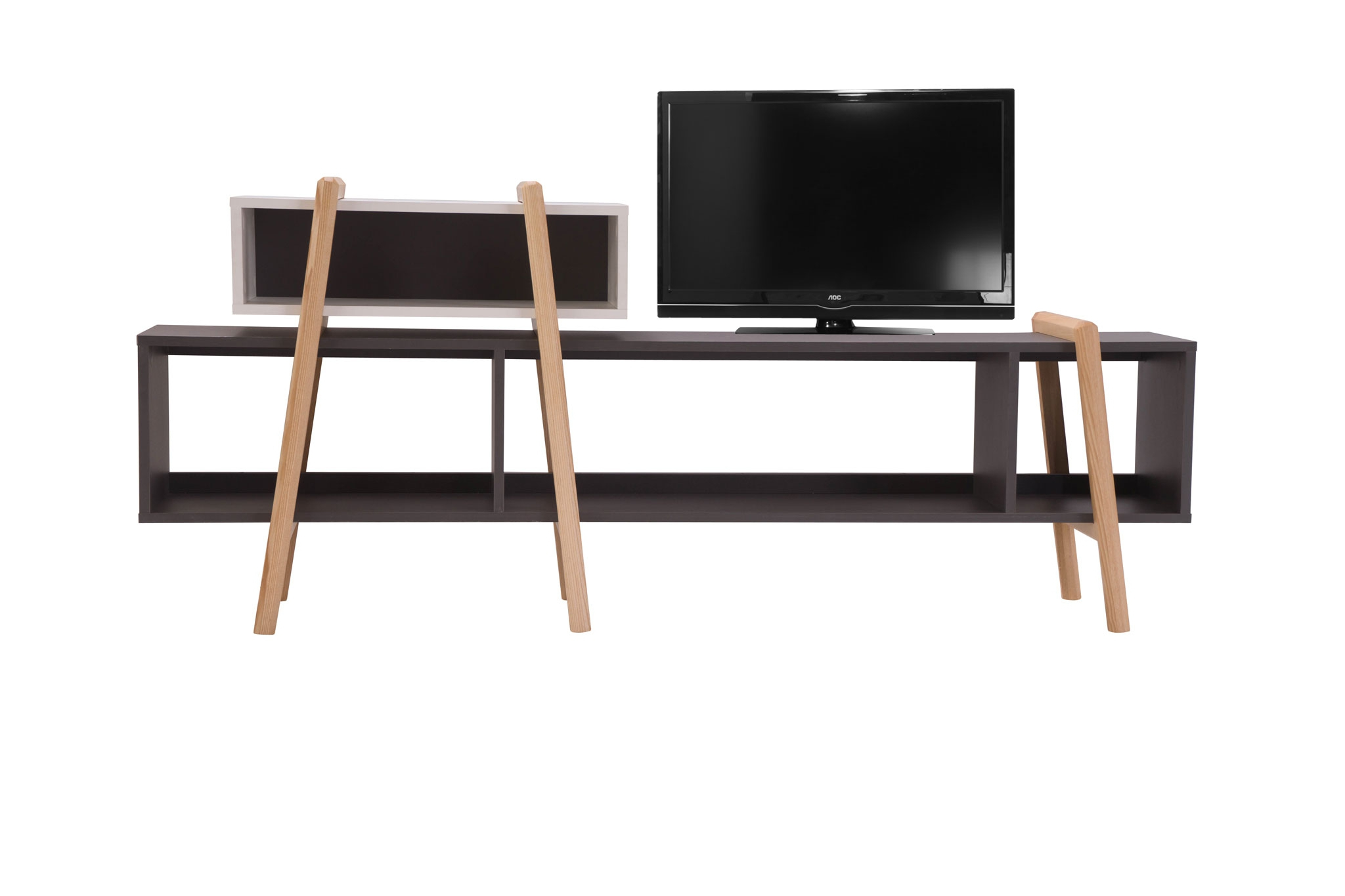 les tag res design modulables wood tang compo par miliboo. Black Bedroom Furniture Sets. Home Design Ideas