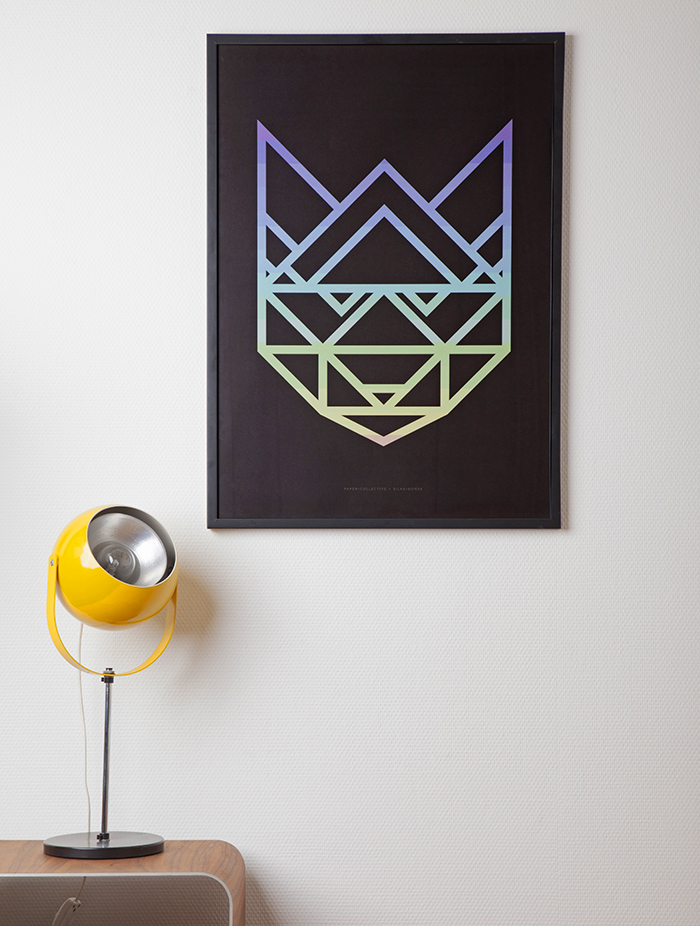 Poster-Paper-Collective-Rainbow_Racoon-Black