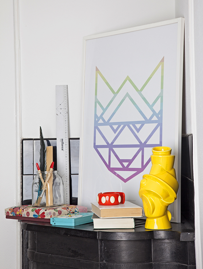 Poster-Paper-Collective-Rainbow_Racoon-White