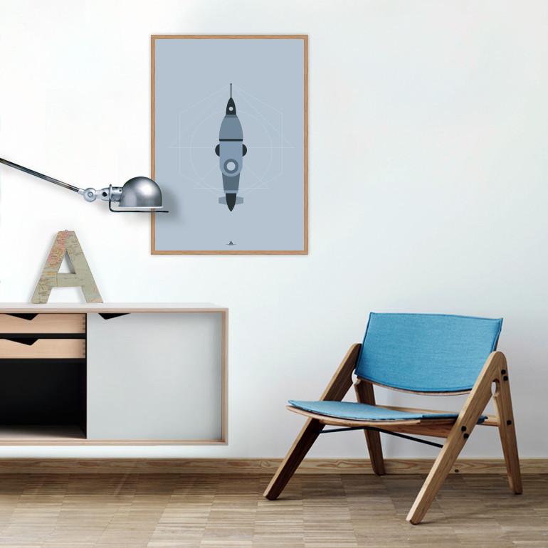 affiche-Spacebugs-blue-Ejvind-Arthur