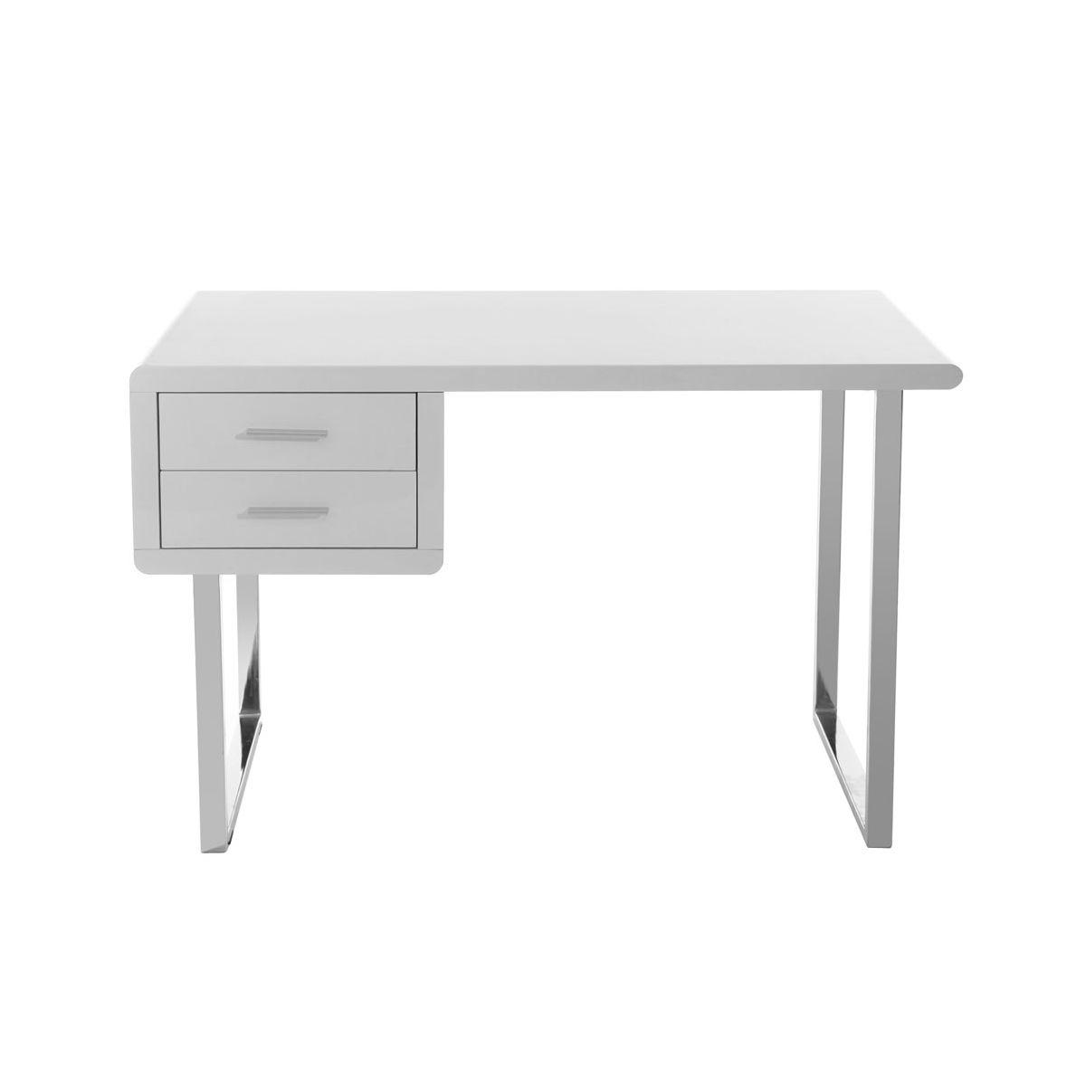 bureau design blanc laque roxi guten morgwen. Black Bedroom Furniture Sets. Home Design Ideas