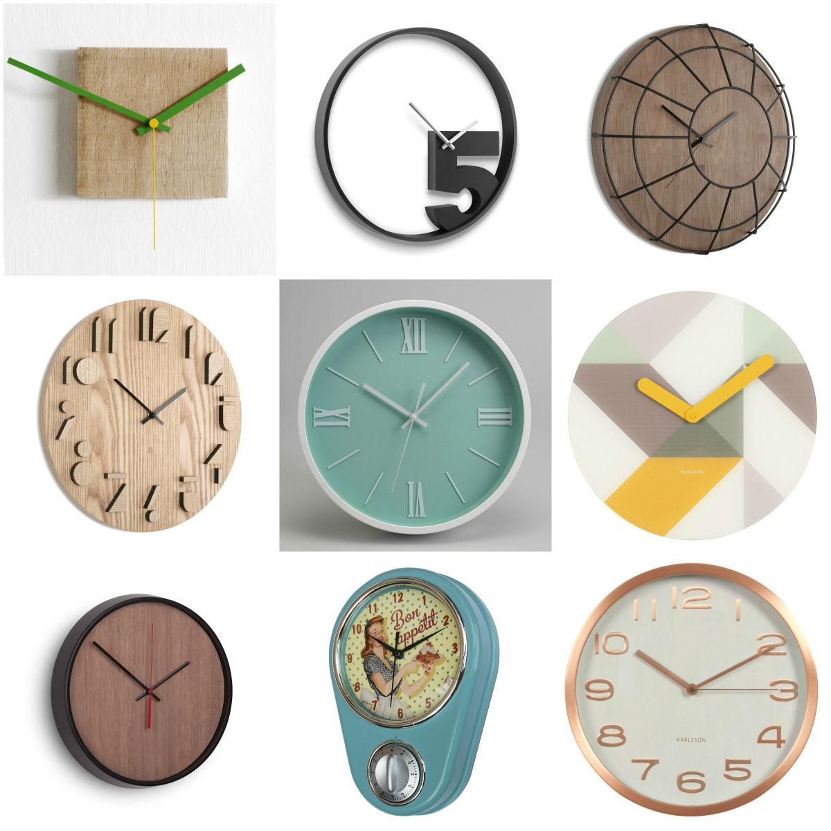 s lection d 39 horloges murales delamaison guten morgwen. Black Bedroom Furniture Sets. Home Design Ideas
