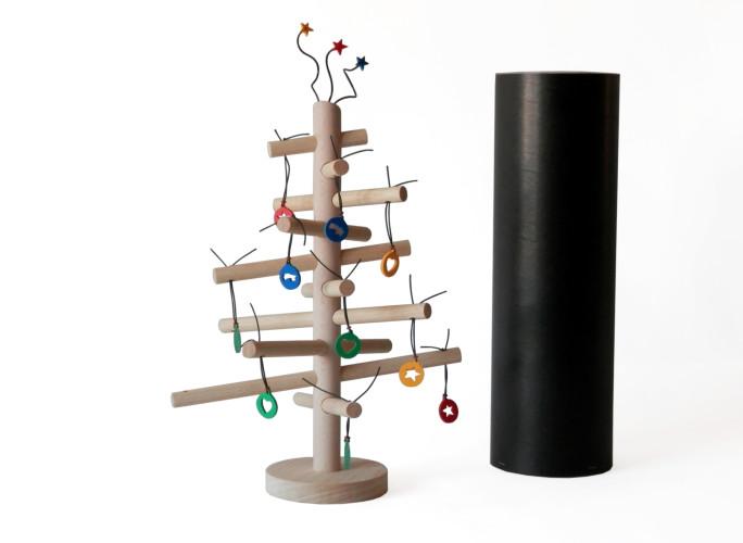 arbre noel design bois three stars 03 guten morgwen. Black Bedroom Furniture Sets. Home Design Ideas