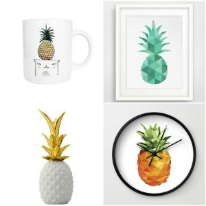 Horloges design for Objet deco ananas