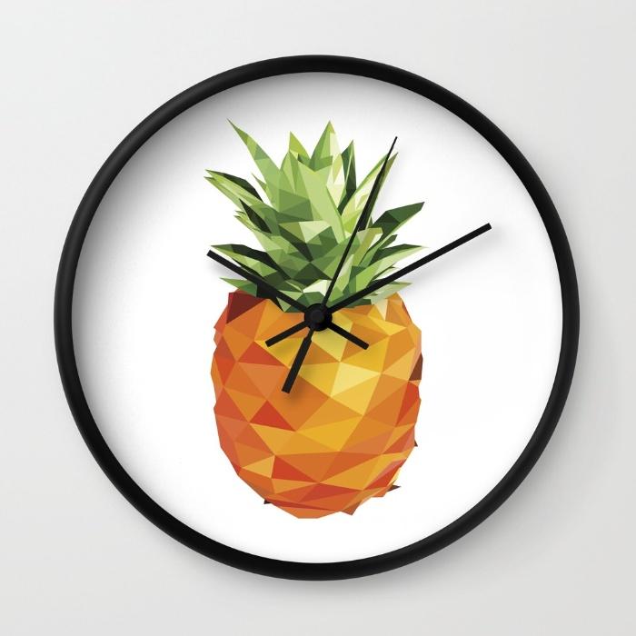 Horloge-murale-ananas-pineapple-Brighid-Ghysen