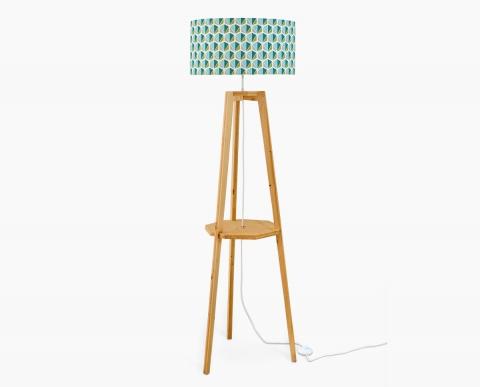 lampadaire-design-facettes-bleu-luminaire-design-trepied