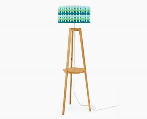 lampadaire-design-gouttes-orange-trepied-tablette