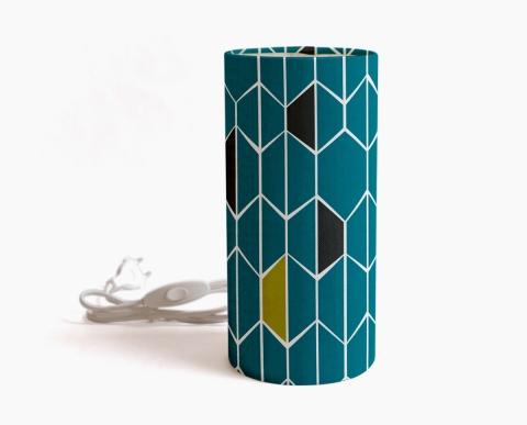 lampe-a-poser-olivine-bleu-motif-geometrique-bleu
