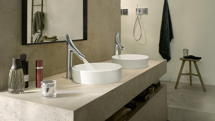 Quand philippe starck s 39 associe la marque hansgrohe axor for Organic bathroom designs
