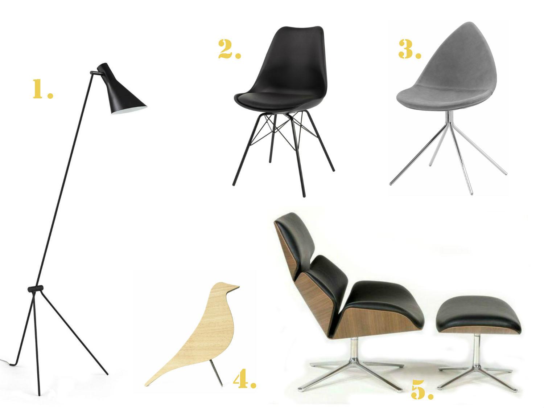 Cinq-Classiques-design-eames-jacobsen-revisites