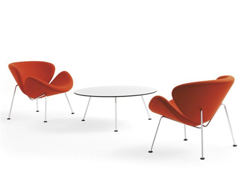 Fauteuils Orange Slice avec table basse