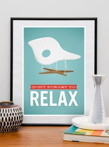 Affiche-design-Eames-dont-forget-to-relax