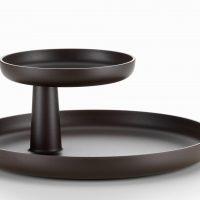 Plateau-design-Rotary-Tray-brun-teck