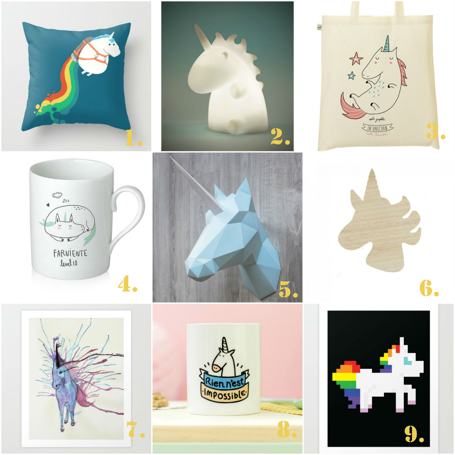 Decoration Chambre Theme Licorne