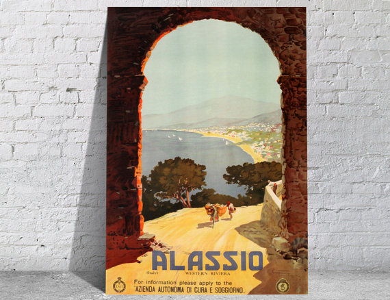 Affiche-poster-vintage-Alassio