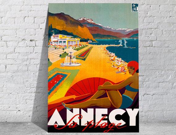 Affiche-poster-vintage-Annecy