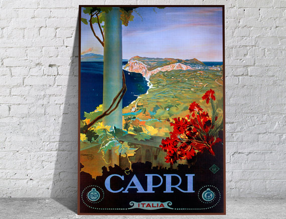 Affiche-poster-vintage-Capri