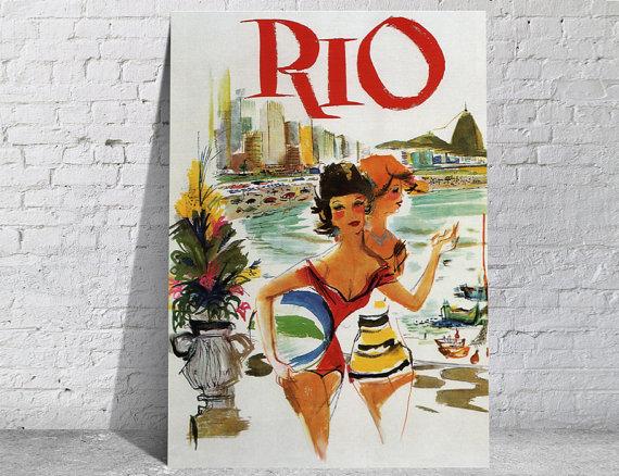 Affiche-poster-vintage-Rio