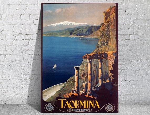 Affiche-poster-vintage-Taormina