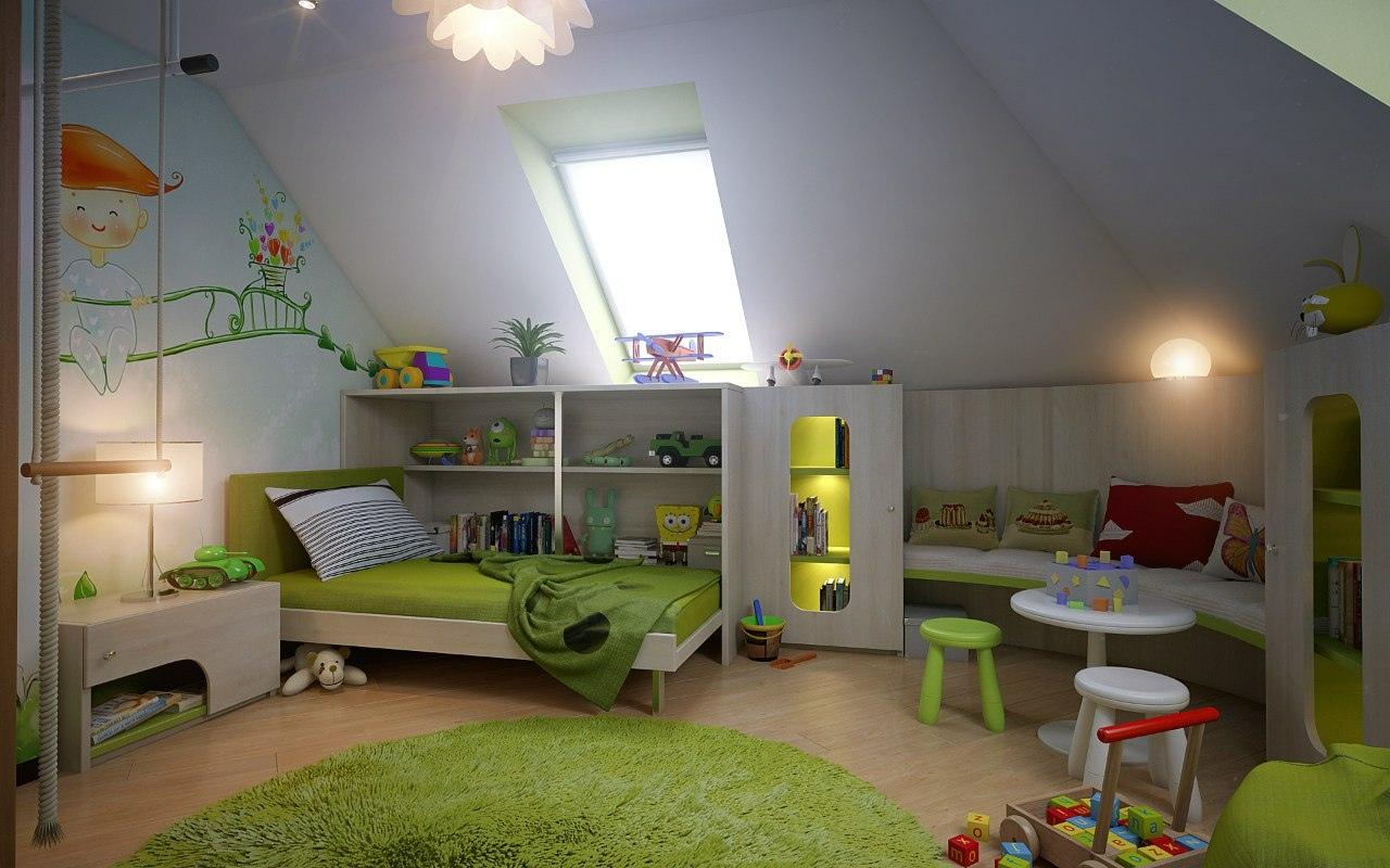 Comment aménager une chambre d\'enfant mansardée   guten morgwen